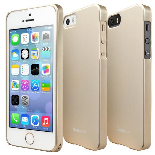 Royal Gold Apple iPhone 5/5S SLIM Series Premium Dual Coated Hard Cover Case w/ Free HD Film