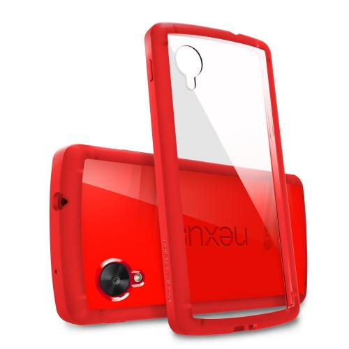 Nexus 5 Case - Ringke Fusion Case [free Hd Film/drop Protection][crimson Red] Shock Absorption Bumper Premium Hybrid Hard Case For Google Nexus 5