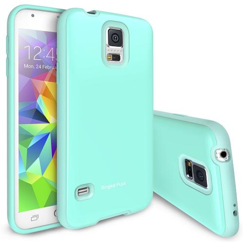 Mint Samsung Galaxy S5 Ringke Flex Series Premium Flexible Tpu Strong N Soft Case W/ Free Screen Protector - Conforms To Your Phone!