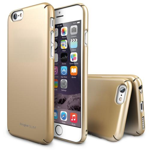 Royal Gold Apple iPhone 6 (4.7 Inches) SLIM Series Premium Dual Coated Hard Cover Case