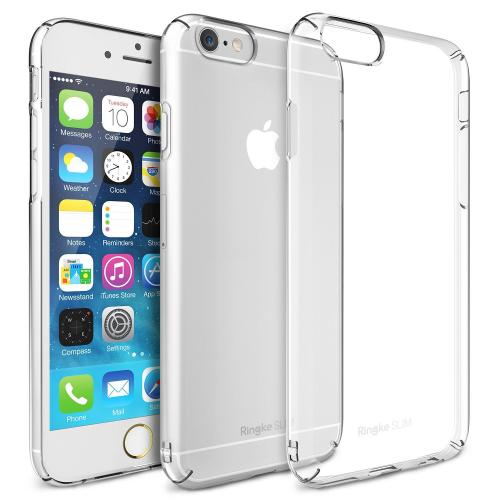 Manufacturers Crystal Clear Apple iPhone 6 (4.7 Inches) SLIM Series Premium Dual Coated Hard Cover Case Silicone Cases / Skins