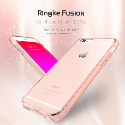 Apple iPhone 6/ 6S Case, Ringke [Black] FUSION Series Slim & Protective Crystal Glossy Snap-on Hard Polycarbonate Plastic Case Cover w/ Dust Drop Protection