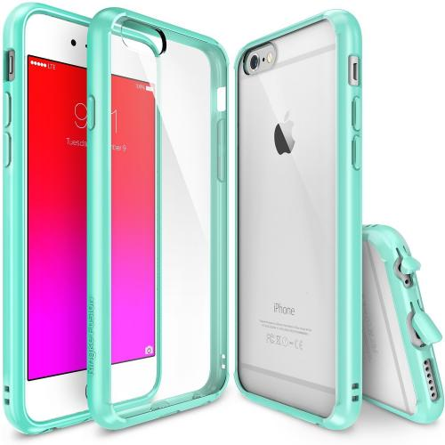 Apple iPhone 6/ 6S Case, Ringke [Mint] FUSION Series Slim & Protective Crystal Glossy Snap-on Hard Polycarbonate Plastic Case Cover w/ Dust Drop Protection