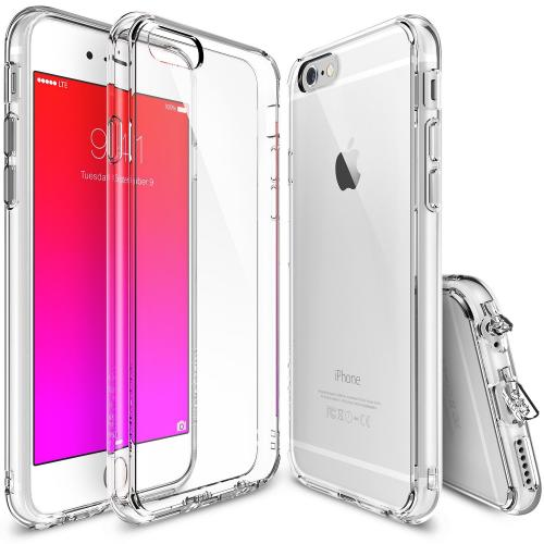 Apple iPhone 6/ 6S Case, Ringke [Clear] FUSION Series Slim & Protective Crystal Glossy Snap-on Hard Polycarbonate Plastic Case Cover w/ Dust Drop Protection