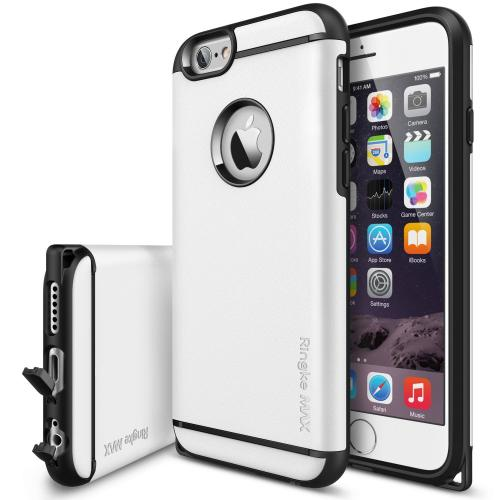 "iPhone 6 Case - Ringke MAX iPhone 6 Case 4.7 "" **NEW** [Dust Cap/Slim Max Protection][WHITE] Double Layer Heavy Duty Protection Armor Case for Apple iPhone 6 4.7 Inch - Eco Package"