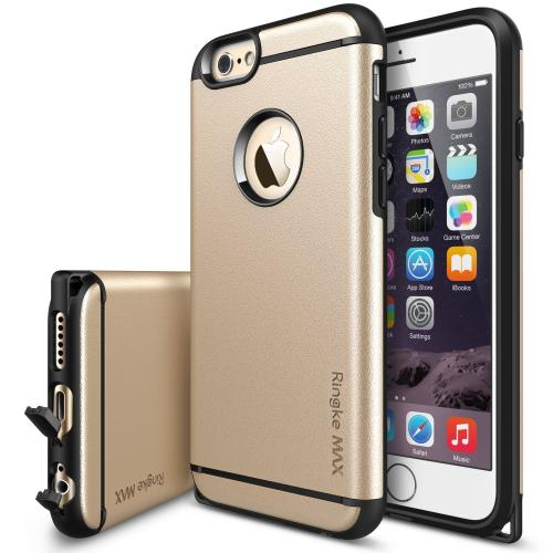 "iPhone 6 Case - Ringke MAX iPhone 6 Case 4.7 "" **NEW** [Free HD Film-Dust Cap/Slim Max Protection][ROYAL GOLD] Double Layer Heavy Duty Protection Armor Case for Apple iPhone 6 4.7 Inch - Eco Package"