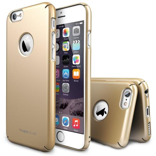 "Royal Gold Apple iPhone 6 (4.7"") SLIM Series Premium Dual Coated Hard Cover Case w/ Logo Cut out"