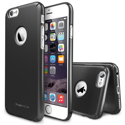 Gun Metal Gray Apple iPhone 6 (4.7 inches) SLIM Series Premium Dual Coated Hard Cover Case w/ Logo Cut out