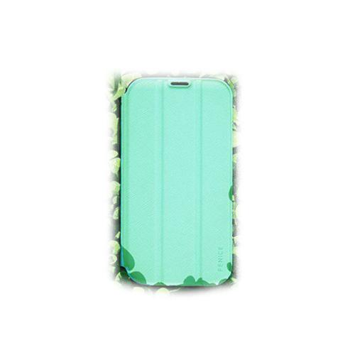 Fenice Mint Creatto Series Premium Italian PU Leather Flip Diary Case w/ Magic Tape & Card Pocket for Samsung Galaxy S4