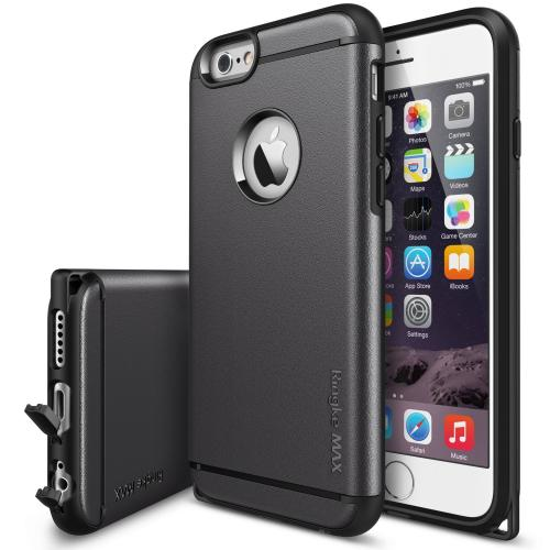 "iPhone 6 Case - Ringke MAX iPhone 6 Case 4.7 "" **NEW** [Dust Cap/Slim Max Protection][GUNMETAL] Double Layer Heavy Duty Protection Armor Case for Apple iPhone 6 4.7 Inch - Eco Package"