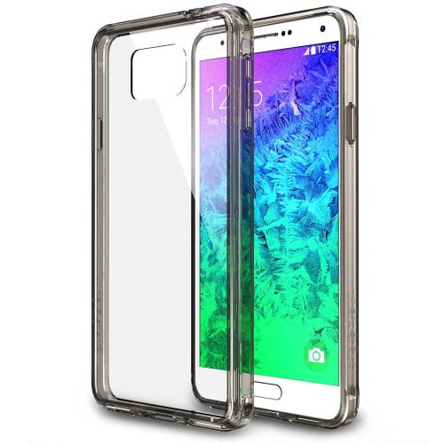 Galaxy Alpha Case - Ringke Fusion Case [free Hd Film/drop Protection][smoke Black] Shock Absorption Bumper Premium Hybrid Hard Case