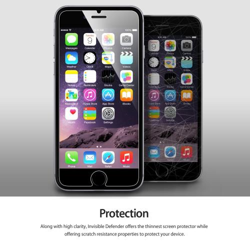 [3+1 Pack] Apple iPhone 6 PLUS/6S PLUS (5.5 inch) Screen Protector, Ringke [Invisible Defender] Premium Hd Clarity Ultra Thin Screen Protector