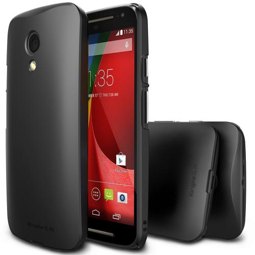 Moto G 2014 [ringke] Hard Case Cover [black] Slim Protective Premium Dual Coated Case W/ Free Screen Protector Included
