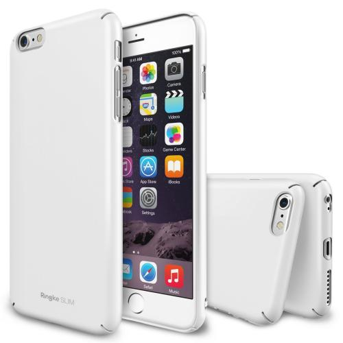 "Iphone 6 Plus Case - Ringke Slim Iphone 6 Plus Case 5.5 "" [free Hd Film][white] Full Top And Bottom Coverage Premium Dual Coated Hard Case"