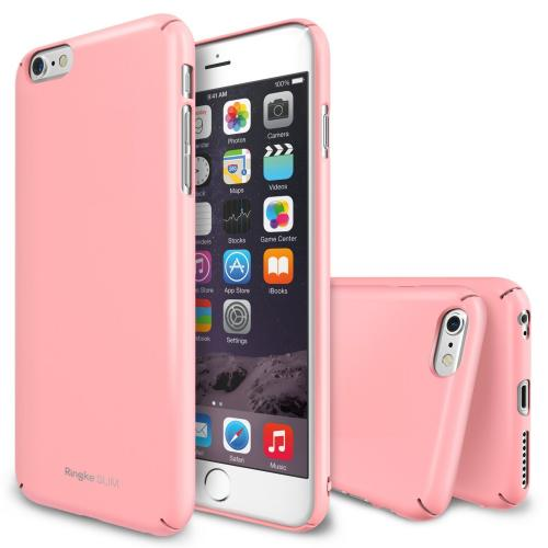 Apple iPhone 6 Plus Hard Case, Ringke [Pink] SLIM Series Full Top And Bottom Coverage Premium Dual Coated Hard Case w/ Free Screen Protector