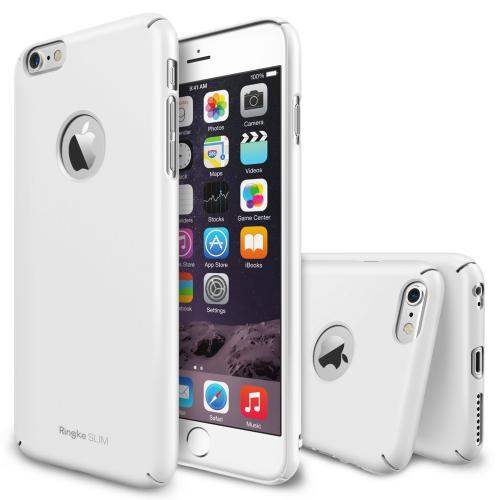 "Iphone 6 Plus Case - Ringke Slim Iphone 6 Plus Case 5.5 "" [free Hd Film][logo-cut Out White] Full Coverage Premium Dual Coated Hard Case"