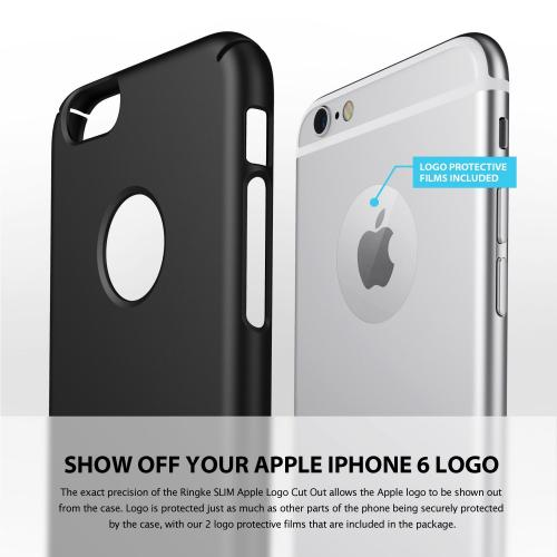 Apple iPhone 6 PLUS/6S PLUS (5.5 inch) Hard Case, Ringke [Mint] SLIM Series [Logo-Cut-Out] Full Coverage Premium Dual Coated Hard Case w/ Free Screen Protector