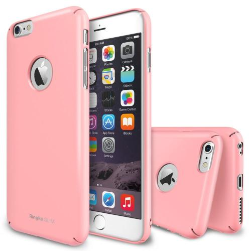 "Iphone 6 Plus Case - Ringke Slim Iphone 6 Plus Case 5.5 "" [free Hd Film][logo-cut Out Pink] Full Coverage Premium Dual Coated Hard Case"