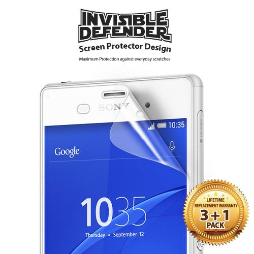 Xperia Z3 [ringke Invisible Defender] Screen Protector - Premium Hd Clarity Ultra Thin Screen Protector For Sony Xperia Z3 (ringke) [4 Pack]