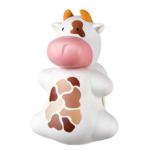 White/ Brown Cow Flipper Toothbrush Holder