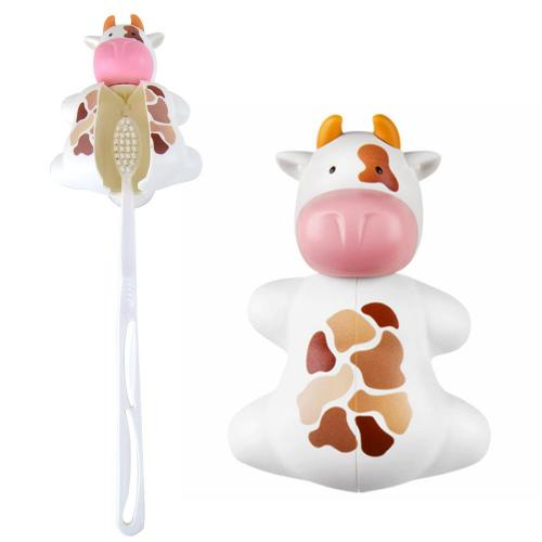 White/ Black Cow Flipper Toothbrush Holder