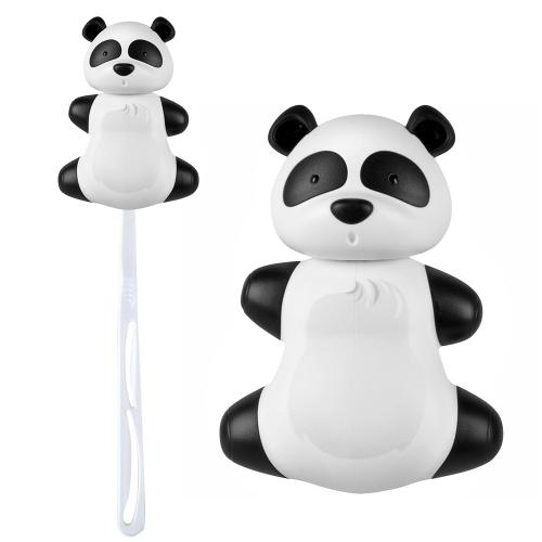 Black/ White Panda Flipper Toothbrush Holder