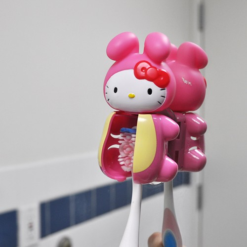 Officially Licensed Sanrio Rabbit Hello Kitty Flipper Toothbrush Holder
