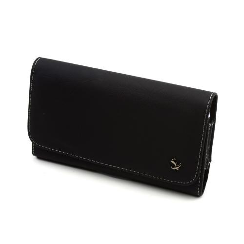 Black w/ Gray Stitching Universal Horizontal Leather Pouch w/ Magnetic Closure & Belt Clip for Samsung Galaxy Note 1/2/3