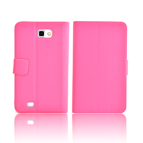 Luxmo Samsung Galaxy Note Impact Resistant Leather Case Stand - Pink