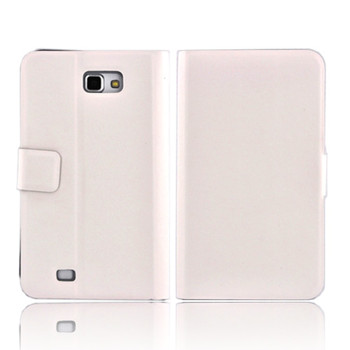 Luxmo Samsung Galaxy Note Impact Resistant Leather Case Stand - White