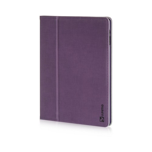 Purple Micro Canvas Folio Stand w/ Micro Fiber Interior for Apple iPad (2nd & 3rd Gen.)