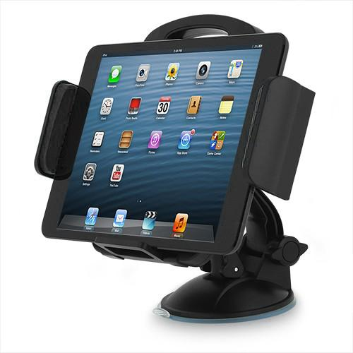 Heavy Duty Backseat Windshield Car Mount Holder Cradle For Tablets/phone/gps [black] Perfect For Long Trips, Vacations, And Children