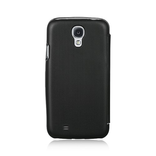 Black Diary Flip Cover Hard Case w/ Magnetic Closure for Samsung Galaxy S4