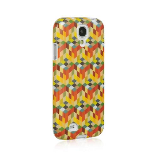 Multi-Color Cube Maze IMD Crystal Silicone Skin Case for Samsung Galaxy S4