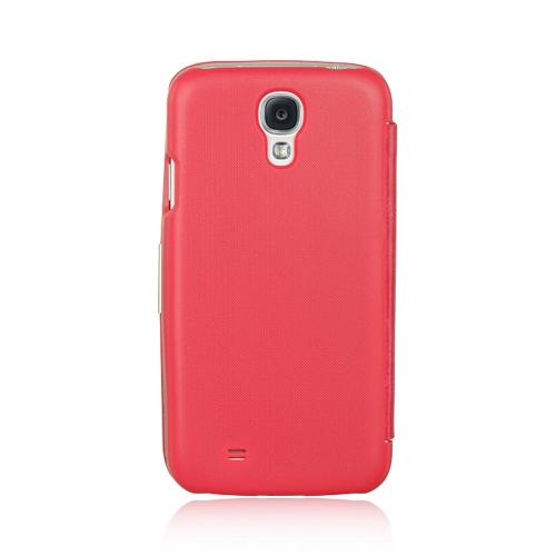Hot Pink Diary Hard Cover Flip Case w/ Sleeper Function for Samsung Galaxy S4