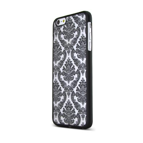 Black Lace Design Rubberized Hard Case Cover Made for Apple iPhone 6 PLUS/6S PLUS (5.5 inch), Unique Design AND Protection!!