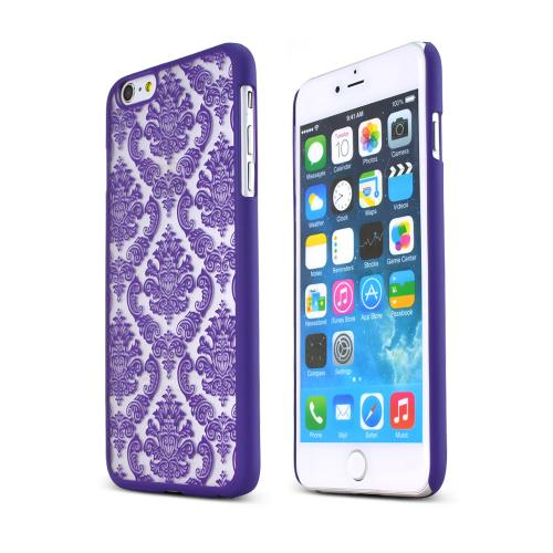 Purple Lace Design  Rubberized Hard Case Cover Made for Apple iPhone 6 PLUS/6S PLUS (5.5 inch), Unique Design AND Protection!!