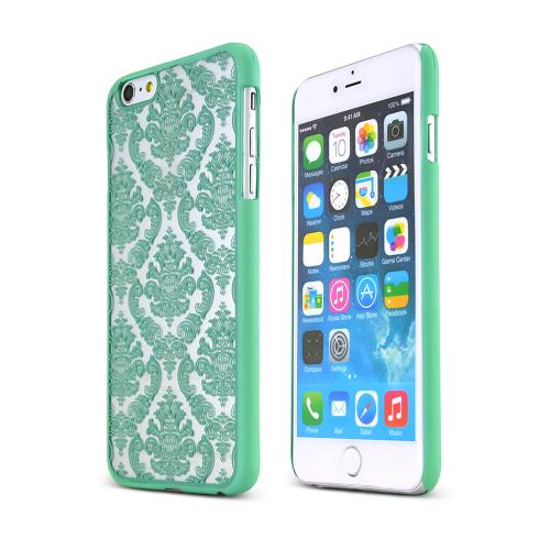 Mint Rubberized Hard Case Cover Lace Design  Made for Apple iPhone 6 PLUS/6S PLUS (5.5 inch), Unique Design AND Protection!!