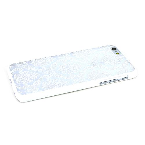 White Lace Design Rubberized Hard Case Cover Made for Apple iPhone 6 PLUS/6S PLUS (5.5 inch), Unique Design AND Protection!!