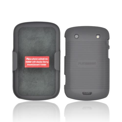Original PureGear Blackberry Bold 9900, 9930 Rubberized Hard Shell Case w/ Holster, 88638VRP - Black
