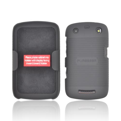 Original PureGear Blackberry Curve 9360 Rubberized Hard Shell Case w/ Holster, 88639VRP - Black