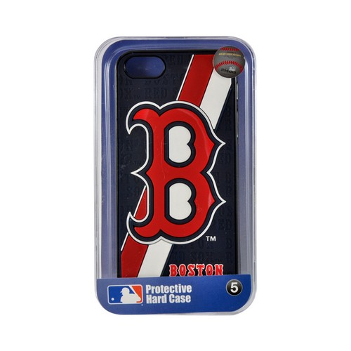 Apple iPhone SE / 5 / 5S  Case, MLB Licensed [Boston Red Sox]  Premium Hard Back Cover w/ Silicone Case