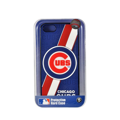 Apple iPhone SE / 5 / 5S  Case, MLB Licensed [Chicago Cubs]  Premium Hard Back Cover w/ Silicone Case