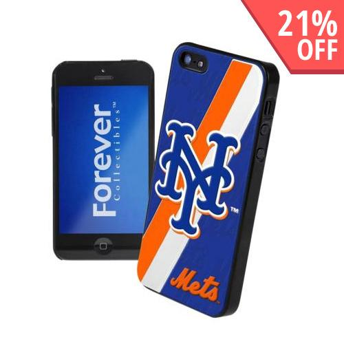 Apple iPhone SE / 5 / 5S  Case, MLB Licensed [New York Mets]  Premium Hard Back Cover w/ Silicone Case