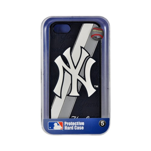 Apple iPhone SE / 5 / 5S  Case, MLB Licensed [New York Yankees]  Premium Hard Back Cover w/ Silicone Case