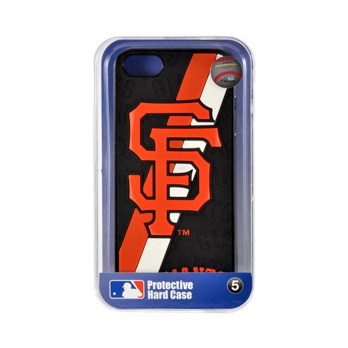 Apple iPhone SE / 5 / 5S  Case, MLB Licensed [San Fransisco Giants]  Premium Hard Back Cover w/ Silicone Case