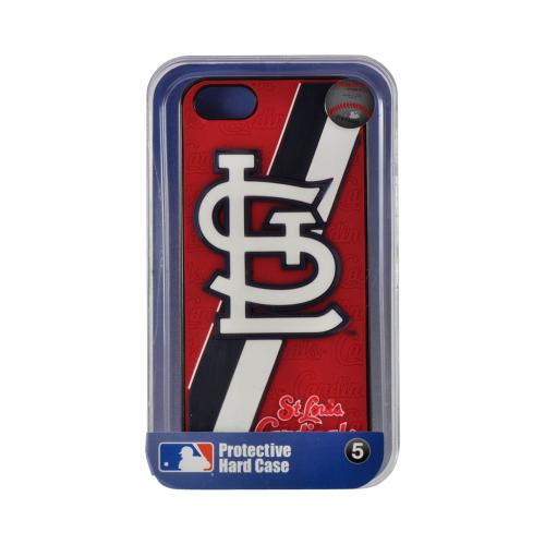 Apple iPhone SE / 5 / 5S  Case, MLB Licensed [St. Louis Cardinals]  Premium Hard Back Cover w/ Silicone Case