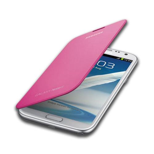 Samsung Pink Protective Flip Cover Hard Case for Galaxy Note 2