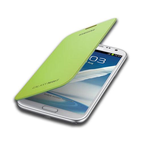 Samsung Lime Green Protective Flip Cover Hard Case for Galaxy Note 2