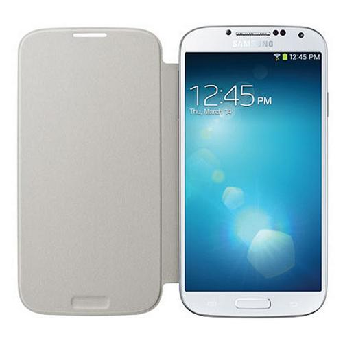 OEM Samsung White Protective Flip Cover Hard Case for Samsung Galaxy S4